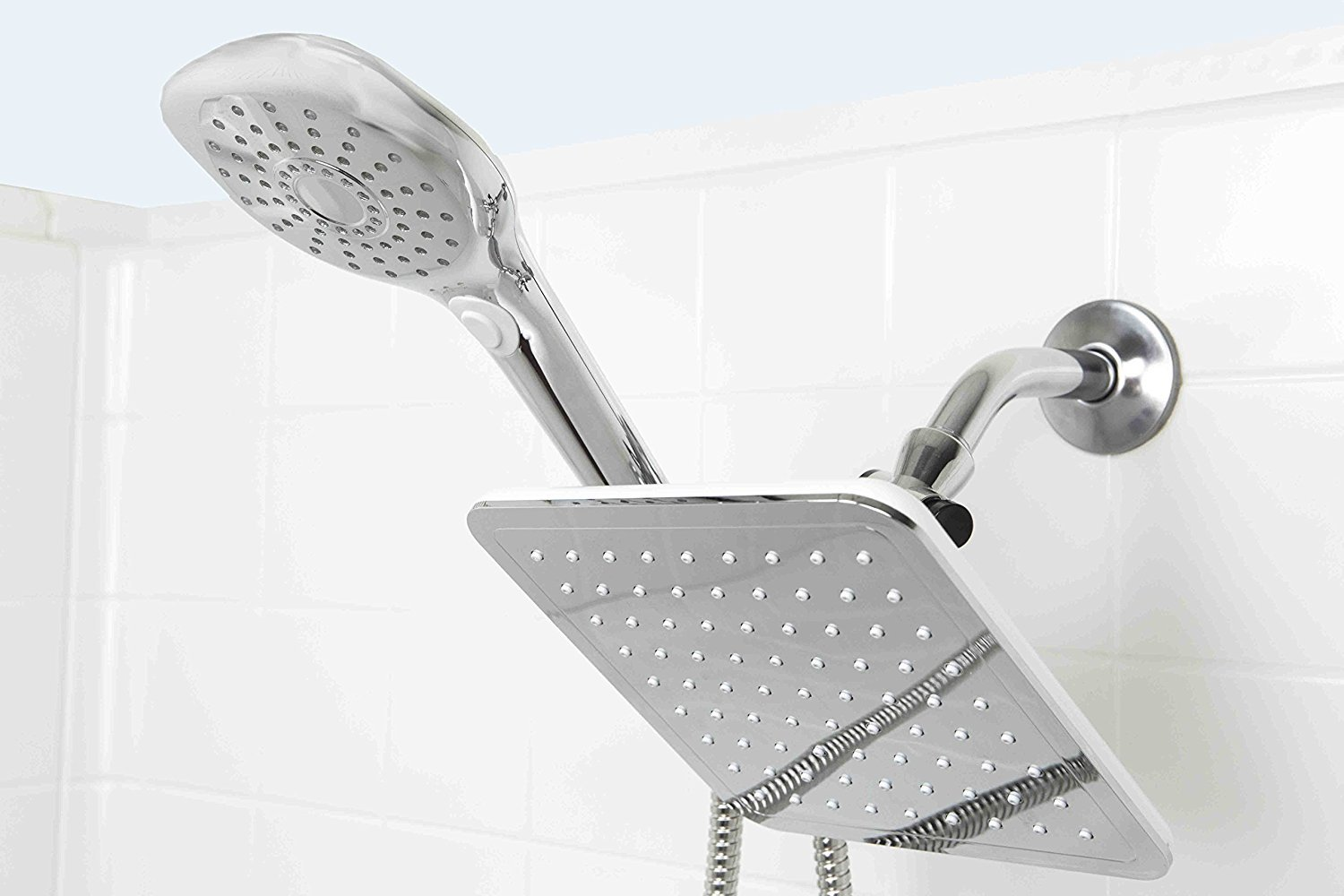 Sunbeam 5 Function Dual Shower Massager with Rainfall Head Set HDS Trading Corp SM41307