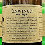 Unwined's Eastern Amber Scented Brew League Recycled Beer Bottle Candle - 8 oz Soy Wax - Made in the USA