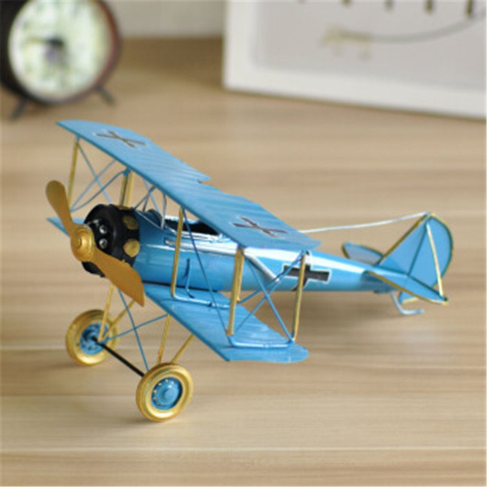 QAZSDF Aircraft Model Crafts, Modern Creative Metal Decoration Handmade Crafts Gifts Living Room Dining Room Or Anywhere