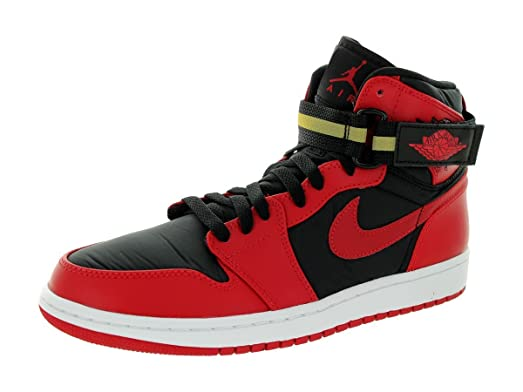 1f3c1f55f0d ... norway jordan nike mens air 1 high strap black gym red white basketball  shoe 12 481f7