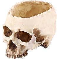 Artificial Resin Skull Head Flower Pot Plant Bowl Container Garden Planter Multifunctional Tabletop Storage Tank…