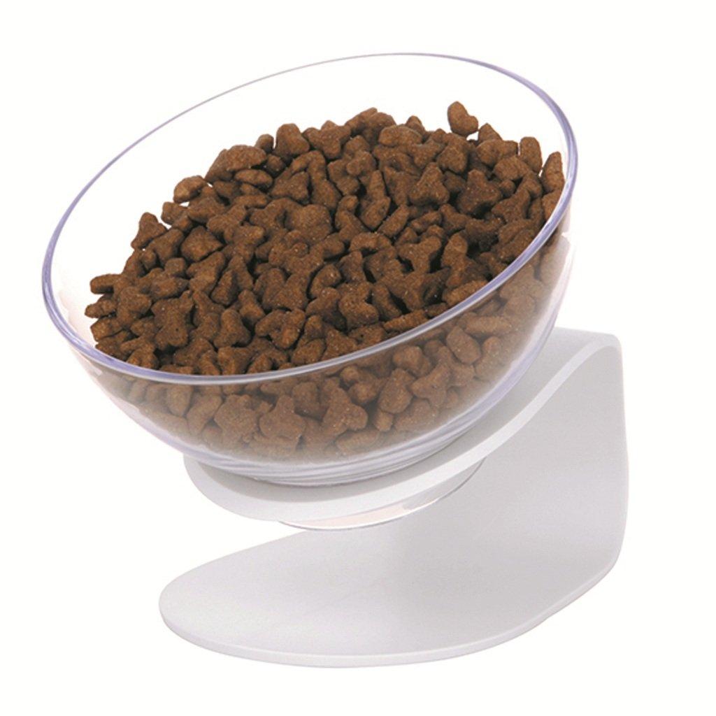 Cat Pet Bowl Flat Face Cat Bowl Cat Bowl Stand Rice Bowl Cat Bowl Pet Bowl (White)