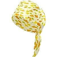 Sombrero de otoño con diseño de hojas de Ginkgo con botón para el sudor, turbante para mujeres y hombres, unisex de…