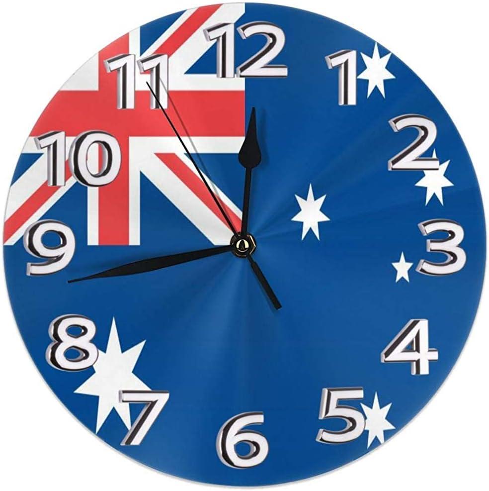 Kncsru Reloj de Pared Bandera de Australia Silencioso Sin tictac ...