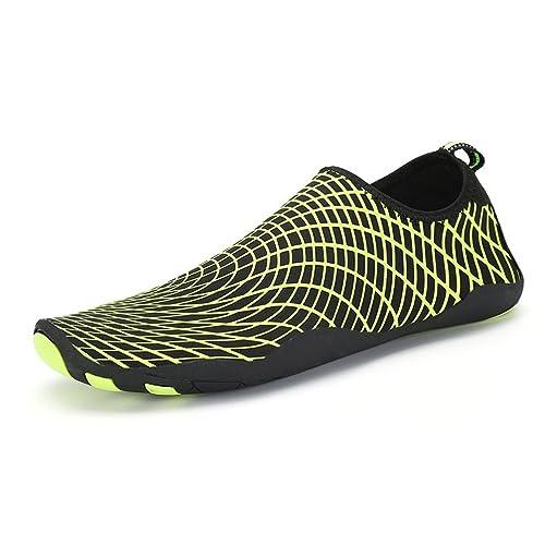 AFFINEST Unisex Zapatos de Agua Deportivos descalzo de Secado Rápido Respirable Piscina Playa Para Hombre Surf Yoga Water Shoes(Negro,43)
