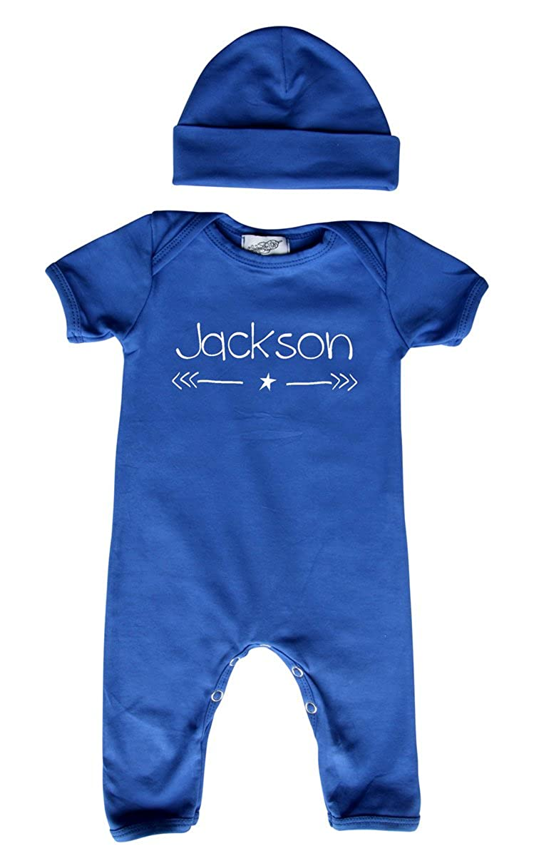 Personalized Rompers with Matching Hat for Boys Girls Gender Neutral