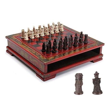 WJMLS Juego de ajedrez for niños y Adultos Juego de Mesa de ...