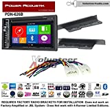 2015 toyota yaris gps - Volunteer Audio Power Acoustic PDN-626B Double Din Radio Install Kit with GPS Navigation Bluetooth CD/DVD Player Fits 2003-2009 Toyota 4Runner, 2003-2006 Tundra (Without JBL system)