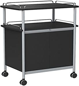 Safco Proudcts Mobile Beverage Serving Cart Commerical Grade Steel design with Swivel Wheels,75 lbs. Capacity, 33 1/2