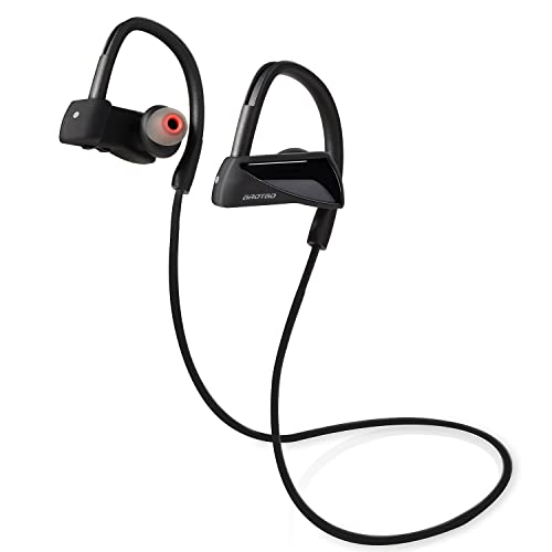 AROTAO Bluetooth Headphones Stereo IPX7 Waterproof Bluetooth Earphones Wireless Sports Headphones Running Earbuds Built-in Microphone Compatible with iPhone, iPad, Samsung Galaxy, Android Phones etc.