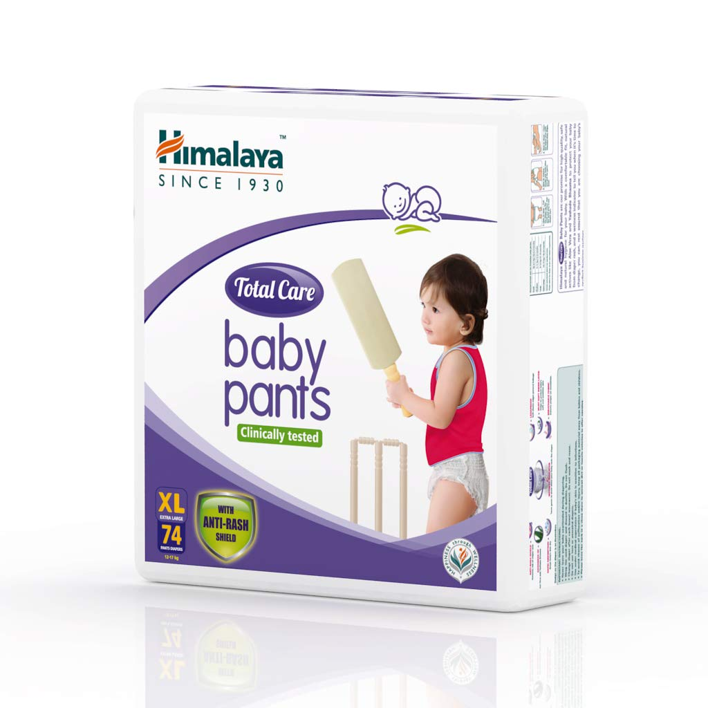 Himalaya Total Care Baby Pants Diapers, Extra Large, 74 Count
