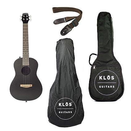 f7a48c4bc50 Image Unavailable. Image not available for. Color: KLOS Guitars Carbon  Fiber Acoustic Ukulele Package (Ukulele, Gig Bag, Rain Cover,