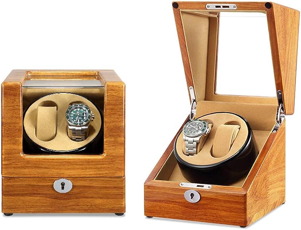 SXM Caja giratoria para Relojes automatico Watch Winder, Caja de Madera for Guardar Relojes for 2 Relojes, con Caja de rotación Ultra silenciosa (Color : A): Amazon.es: Relojes