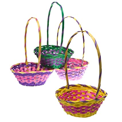 Amazon 11 bamboo easter basket toys games 11quot bamboo easter basket negle Images