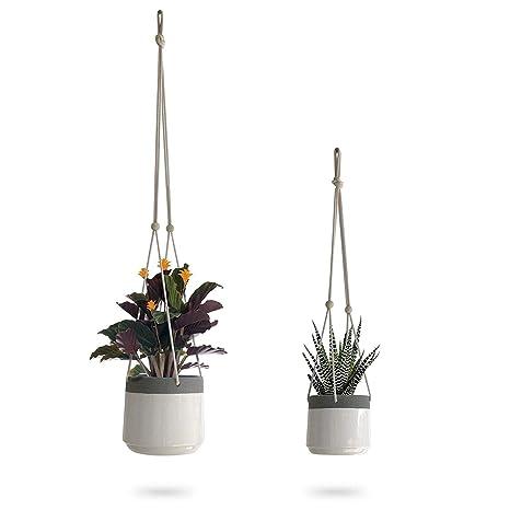 019be1bad390ce Amazon.com  Ceramic Hanging Planter
