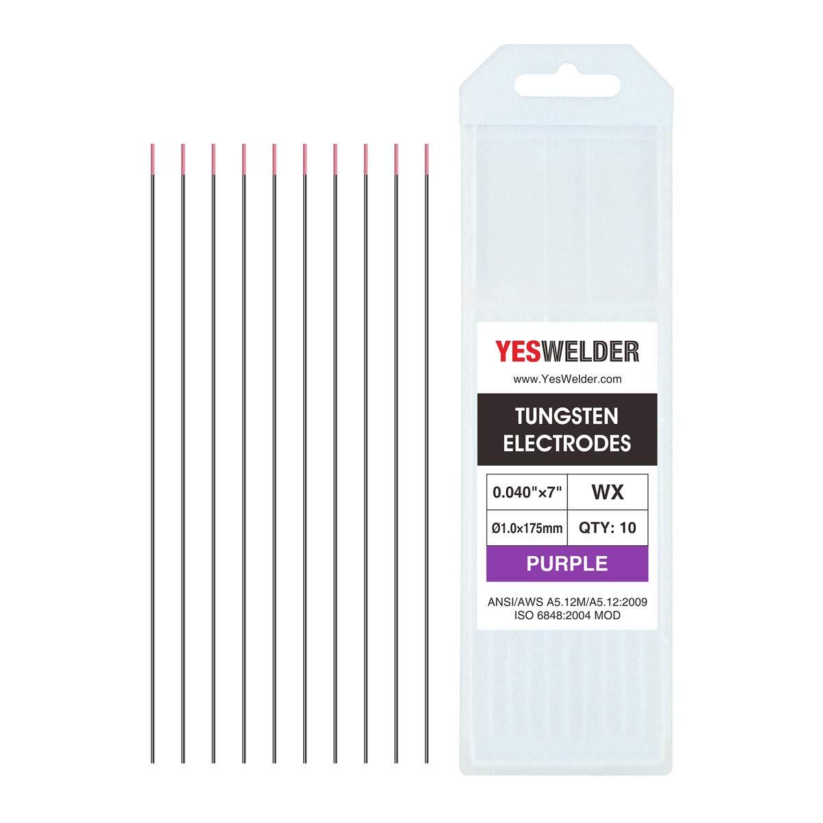"10-pk TIG Welding Tungsten Electrode .040 1//16 3//32 1//8 5//32 by 7/"" Length"