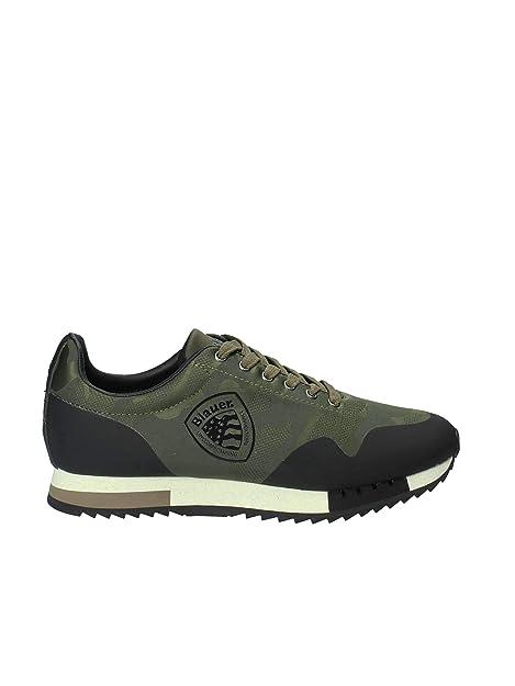 BLAUER 8FDETROIT01/CAM Zapatillas Hombre Verde Militar 40: Amazon.es: Zapatos y complementos