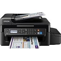 Epson EcoTank ET-4500 4-in-1 Tintenstrahl Multifunktionsgerät (Drucker, Scanner, Kopierer, Fax, ADF, WiFi, Ethernet, Display, USB 2.0, große Tintenbehälter, hohe Reichweite) schwarz
