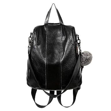 Mochila De Moda Para Mujer Mochila Antirrobo De Doble Uso Bolsa De Viaje Bolsa De Hombro,Black-29 * 14 * 31cm: Amazon.es: Ropa y accesorios