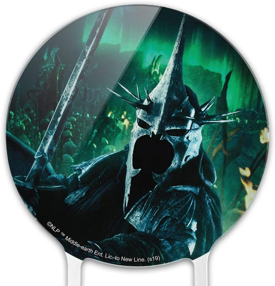 GRAPHICS /& MORE Acrylic The Lord of The Rings Witch King of Angmar Character Cake Topper Party Decoration for Wedding Anniversary Birthday Graduation
