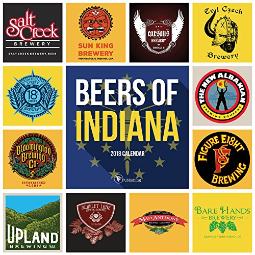 Indiana Beer - 2018 Beers of Indiana Wall Calendar
