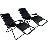 Case Of 2 Zero Gravity Lounge Patio Chairs