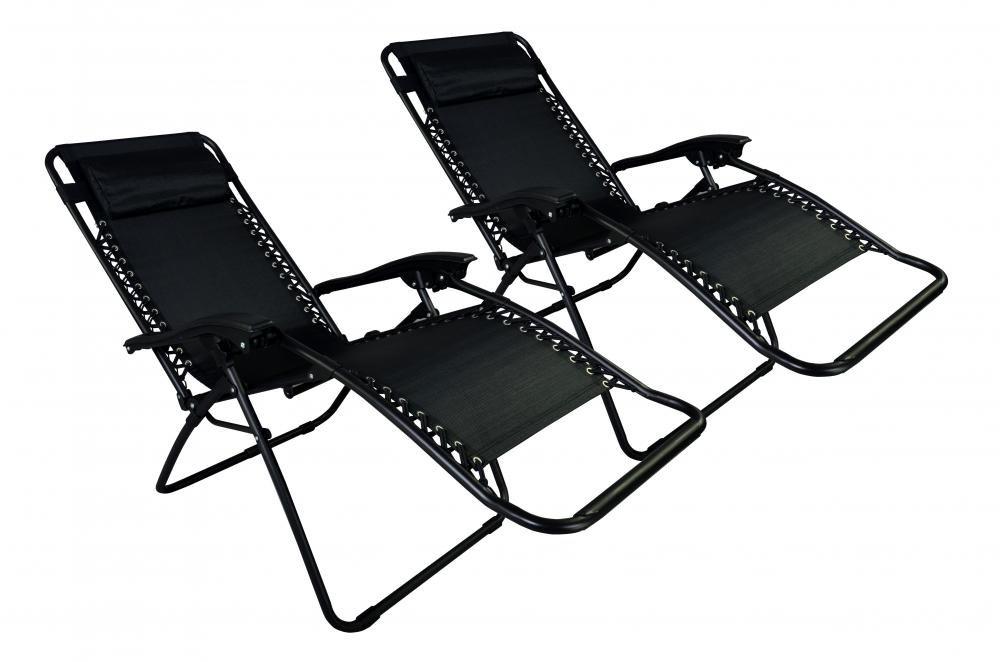 Amazon.com : Zero Gravity Chairs Case Of (2) Black Lounge Patio Chairs  Outdoor Yard Beach O62 : Patio, Lawn U0026 Garden