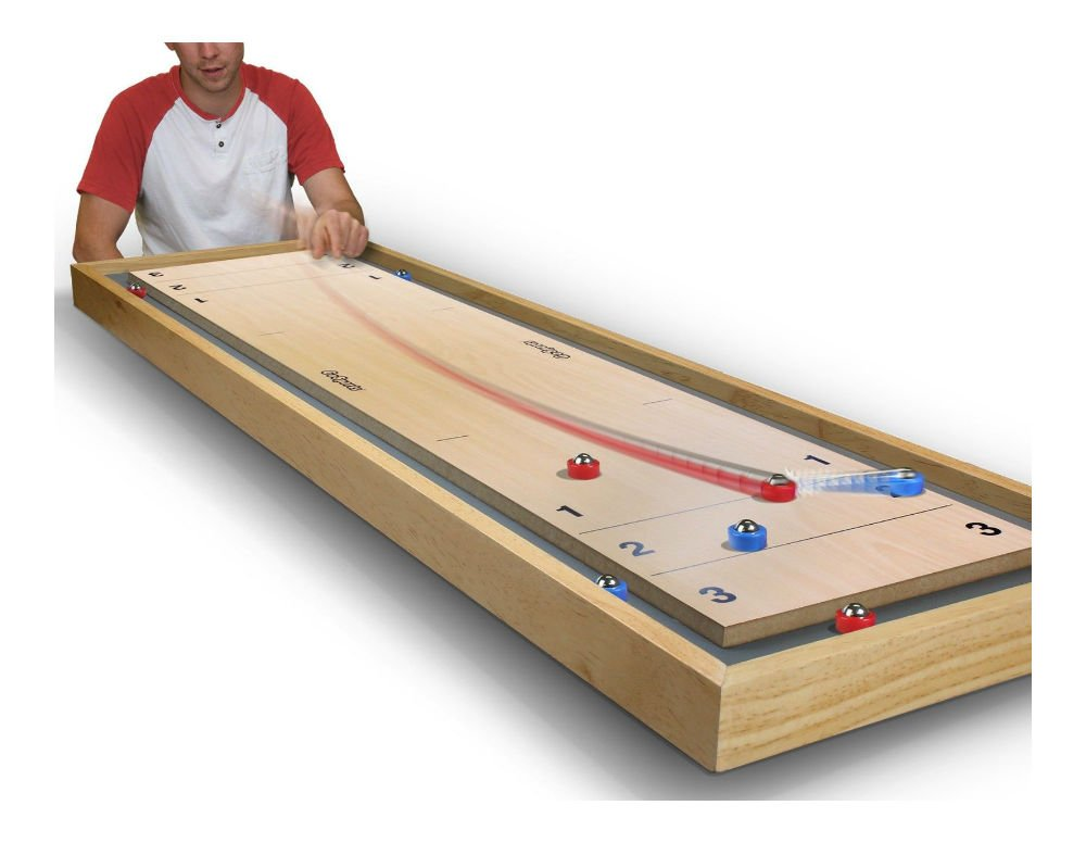 New! Shuffleboard and Curling 2 in 1 Table-Top Game by Unknown