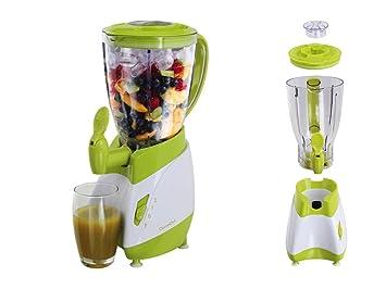 Batidora con grifo (Mix Depósito de 1,5 litros Smoothie maker Licuadora (Blender, licuadora, 350 W, leche Coctelera, cóctel de Maker, Verde): Amazon.es: ...