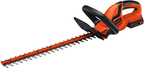 BLACK DECKER 20V MAX Cordless Hedge Trimmer, 22-Inch LHT2220