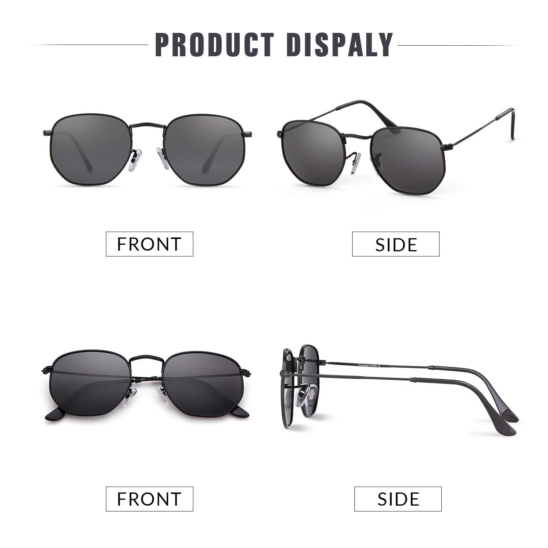 Amazon.com: Gafas de sol redondas polarizadas para mujeres y ...