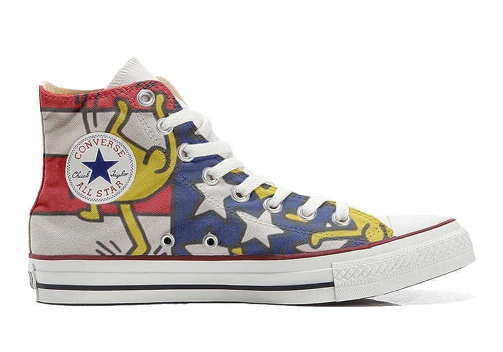 mys Converse Customized Bandiera Unisex - Chaussures Coutume (Produit Artisanal) Bandiera Customized danze USA 33 EU 9eb63a