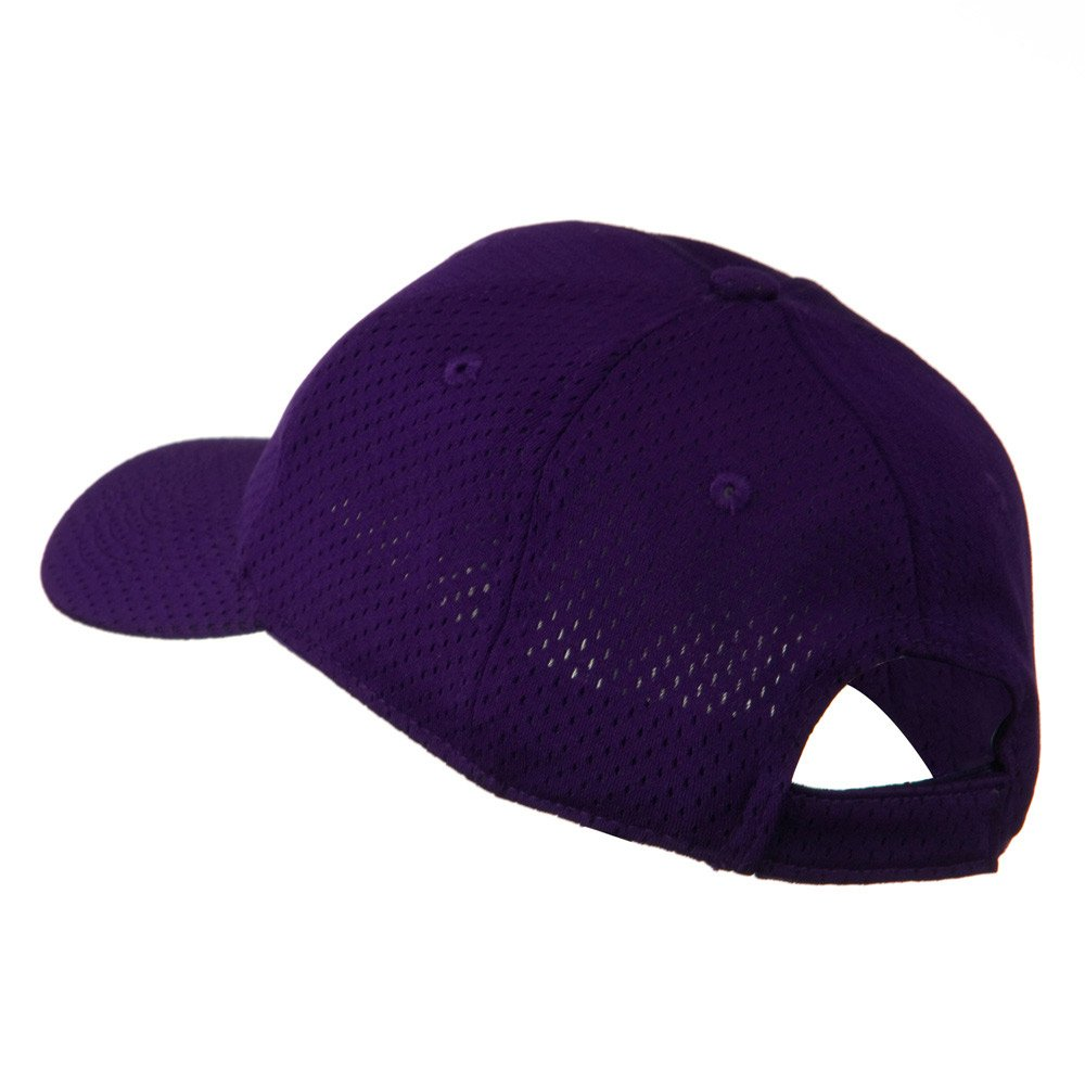 41cefa49b75 Amazon.com  Youth Athletic Jersey Mesh Cap - Purple OSFM  Baseball Caps   Clothing