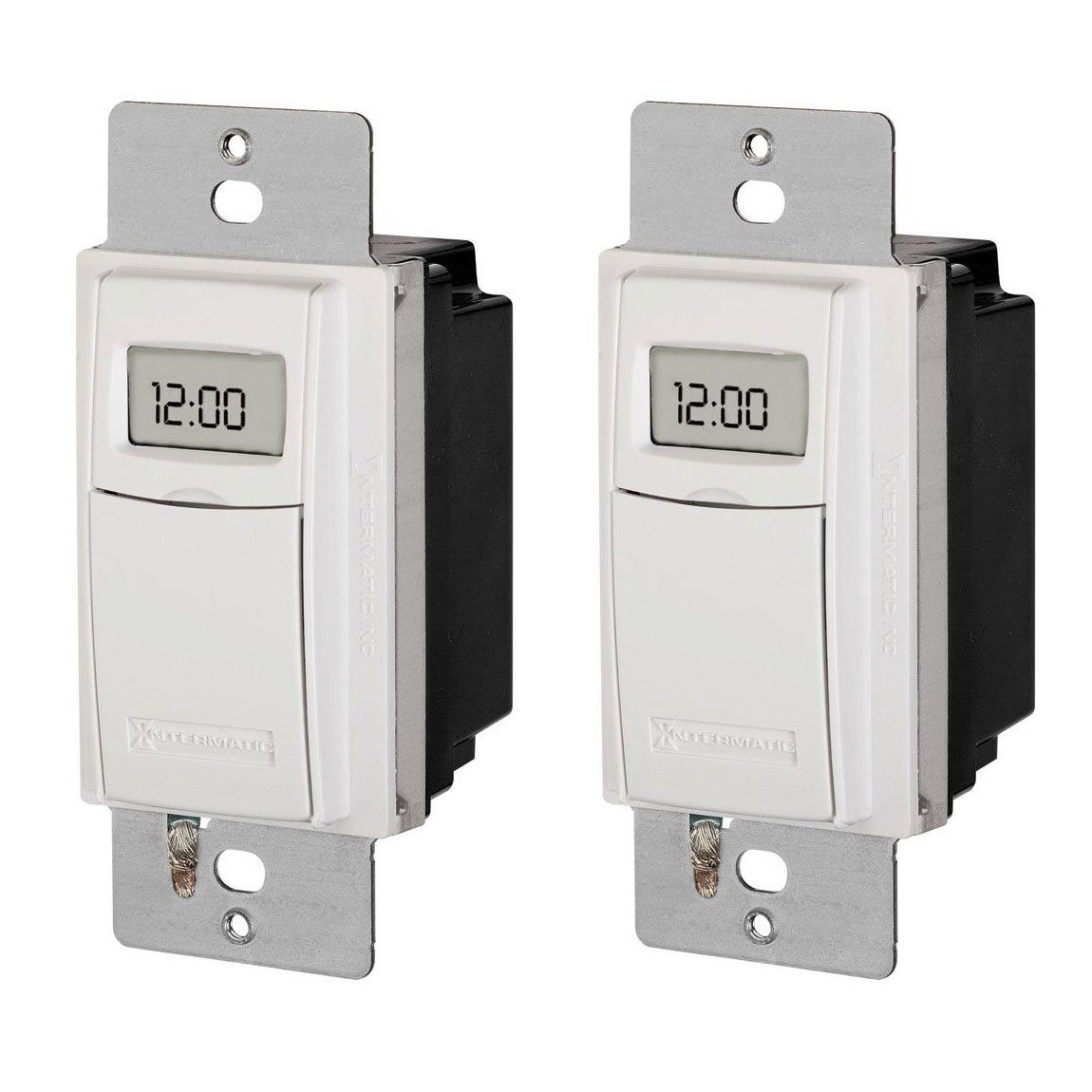 Intermatic ST01K Astronomic 120-277 VAC 15 A 1 HP Digital In-Wall Timers, 2-Pack