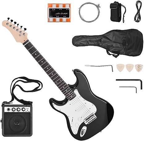 ZGHNAK Guitarra eléctrica Mano izquierda 21 trastes 6 cuerdas ...