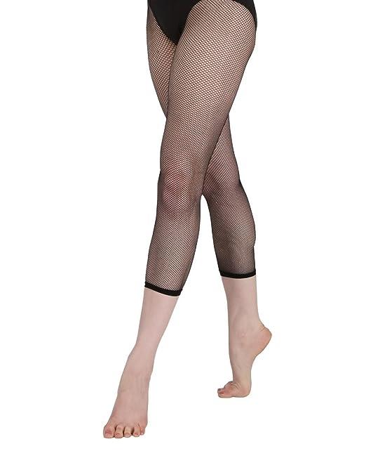 32ab2e3706498f Capezio Women's Studio Basic Fishnet Capri, Black, Large/X-large at Amazon  Women's Clothing store: Tights