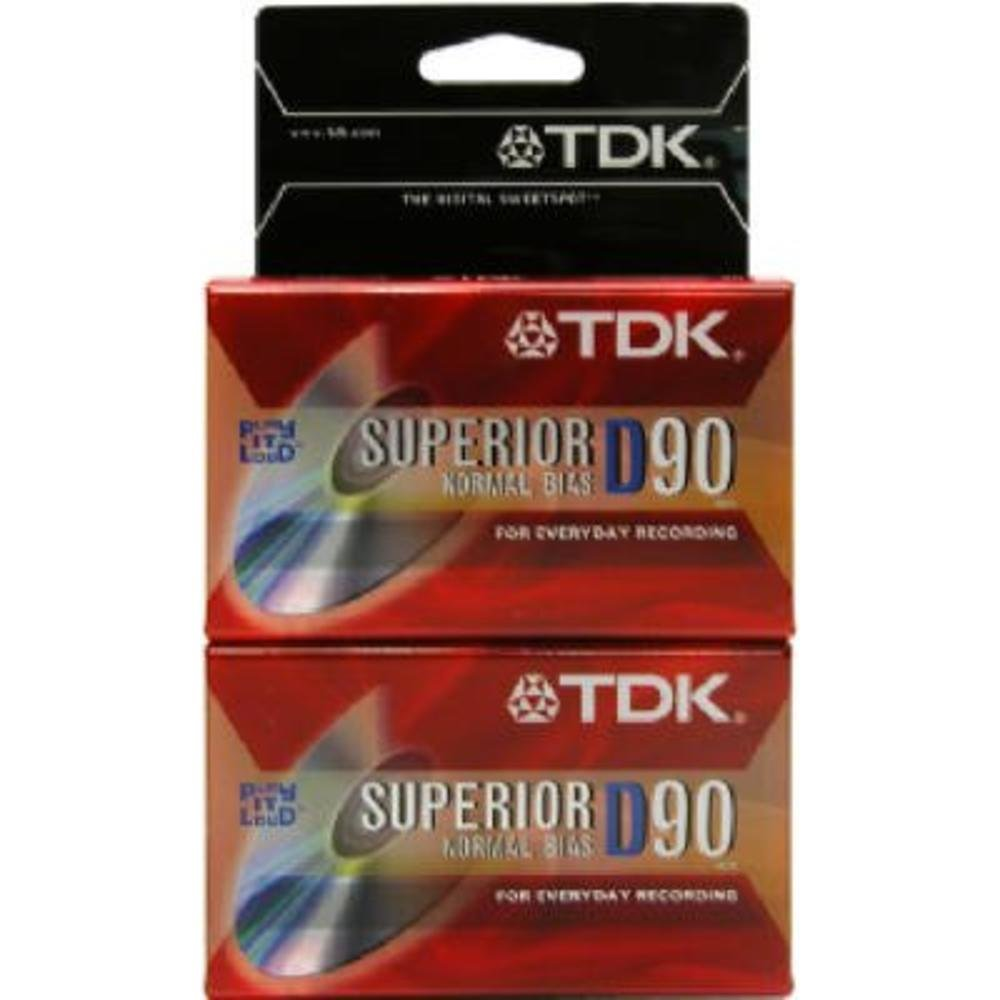 Tdk Electronics 2 Pack 90 Minute Cassette Normal Bias High Output Imation
