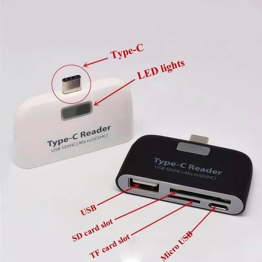 Sdxc Sd Micro Sd Sdhc USB 3.1 USB C Adapter,4 in 1 OTG,TF,SD Card Reader Hub for MacBook Windows Tf