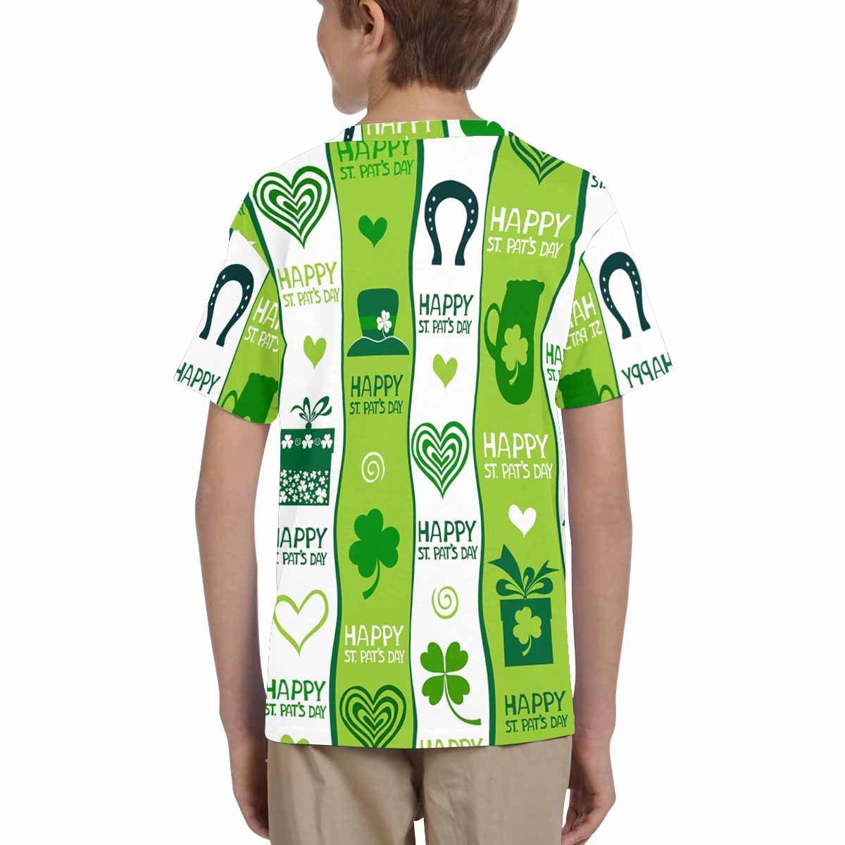 XS-XL INTERESTPRINT Kids T-Shirts St.Patricks Day Background