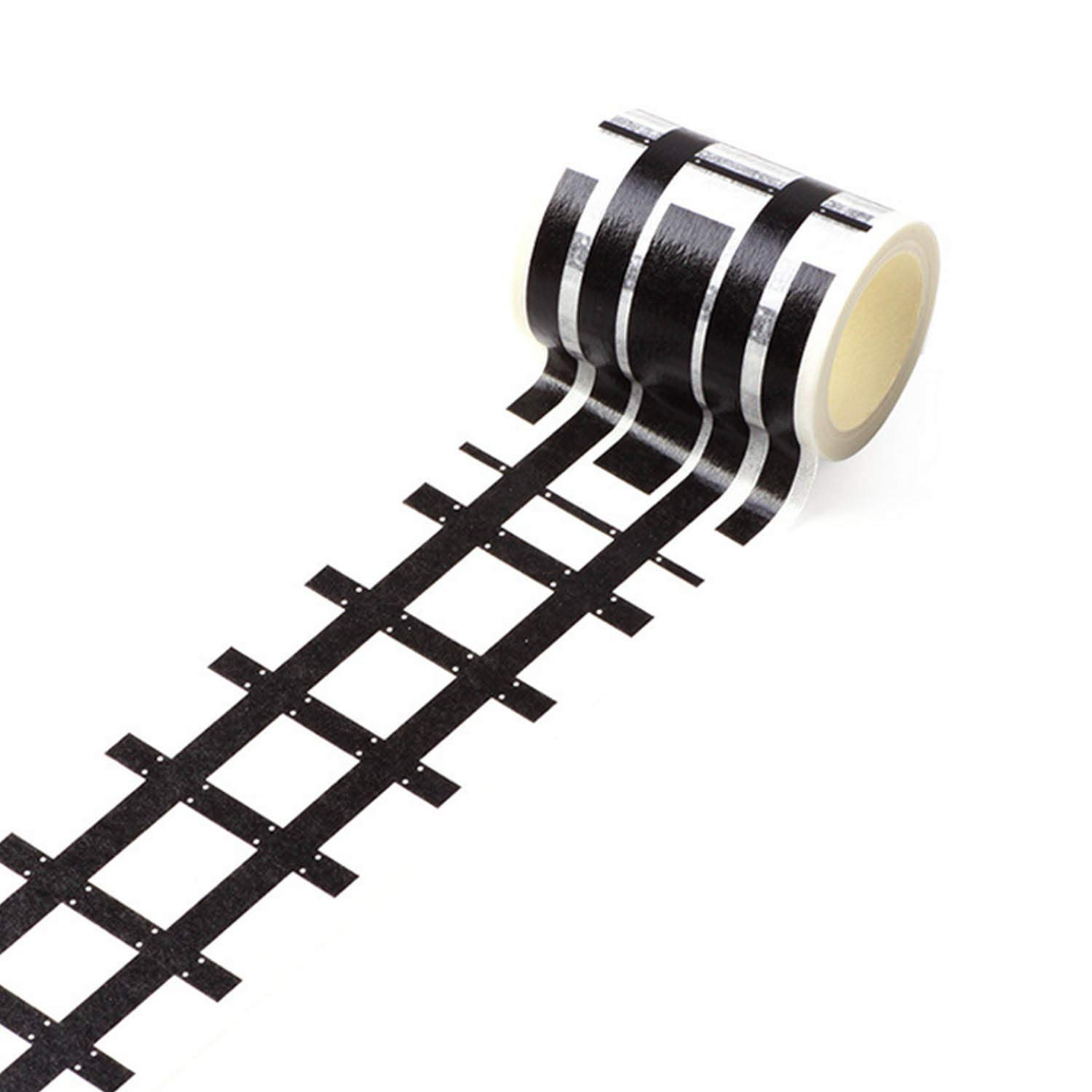 Beetest uk DIY Traffic Road Railway Adhesive Removable Washi Masking Tape Sticker for Children Kids Toy Cars Trains 5 x 500cm Style B