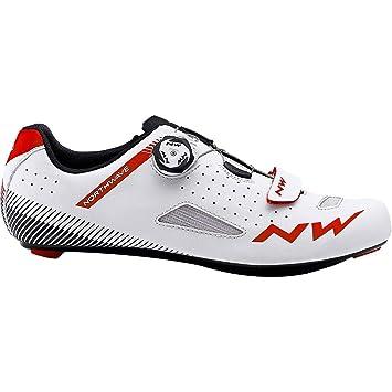 Northwave Zapatillas Carretera Core Plus Blanco/Rojo - Talla: 43