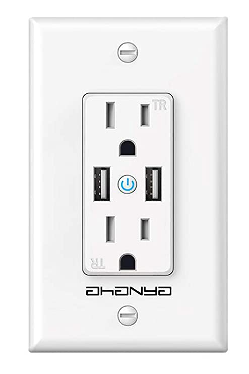 Amazon.com: Enchufe Wifi Smart Plug de pared con 2 enchufes ...