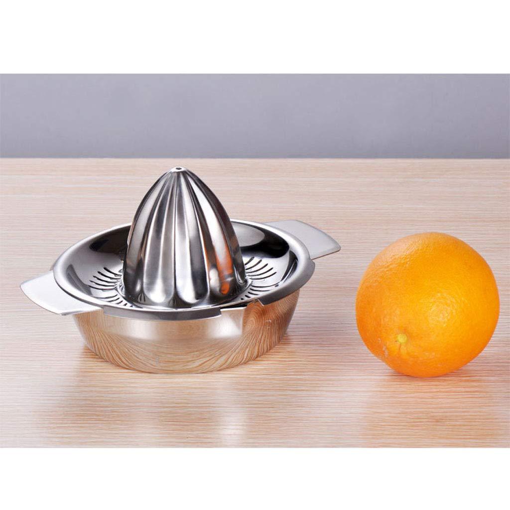 Haoli Exprimidor Manual de Acero Inoxidable 304 Mini exprimido máquina de Jugo de Naranja pequeña Taza de Jugo: Amazon.es