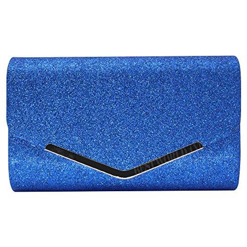 Luxury Wedding Royal Bag Handbag Evening Lady Glitter New Wallet Clutch Coin Blue Purse Wocharm Party FwExqpR0