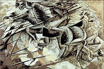 Poster 150 x 100 cm: Die Gebühr der Lancers von Umberto Boccioni/akg-Images - hochwertiger Kunstdruck, neues Kunstposter