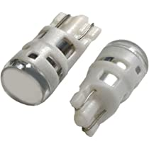 iJDMTOY (2) Cool White 168 194 2825 W5W LED Replacement Bulbs For Car License ...