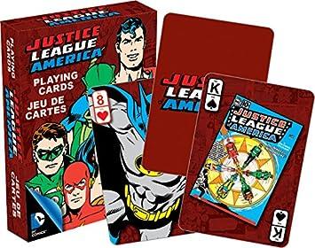 Aquarius DC Comics- Retro Deck de Cartas, diseño de Liga de ...