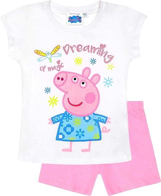 Peppa Pig - Peppa Wutz - Pijama - para niña Weiß-Rosa 98 cm ...