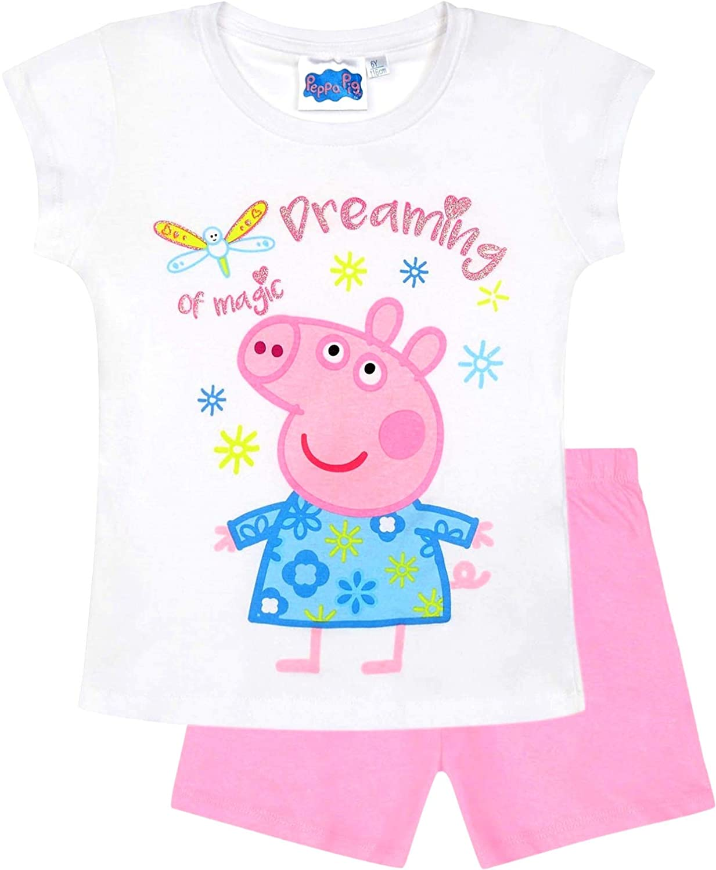 Peppa Wutz Schlafanzug Shorty Mädchen Kurz Peppa Pig