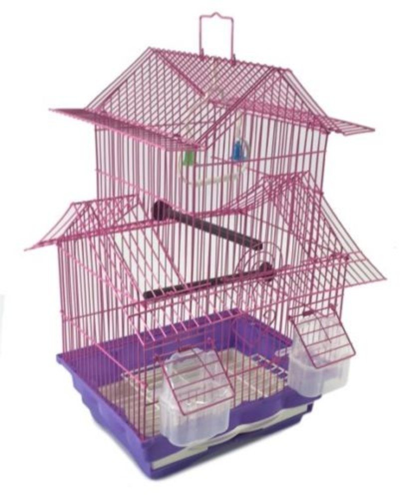 Two Story Bird Cage Starter Kit - Pink House Style by Unknown